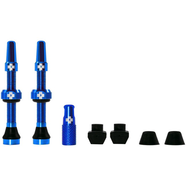 Muc-Off Tubeless Valve Kit - 44mm Valve Kit (Blue)