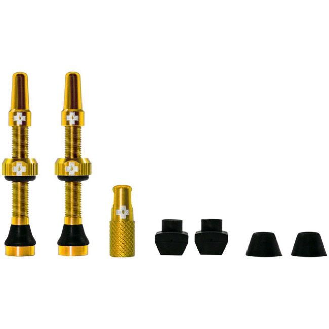 Muc-Off Tubeless Valve Kit - 44mm Valve Kit (Gold)