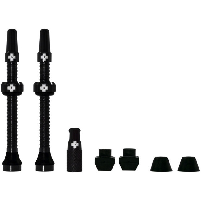 Muc-Off Tubeless Valve Kit - 60mm Valve Kit (Black)