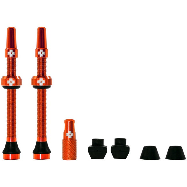 Muc-Off Tubeless Valve Kit - 60mm Valve Kit (Orange)