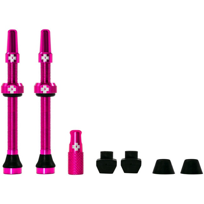 Muc-Off Tubeless Valve Kit - 60mm Valve Kit (Pink)