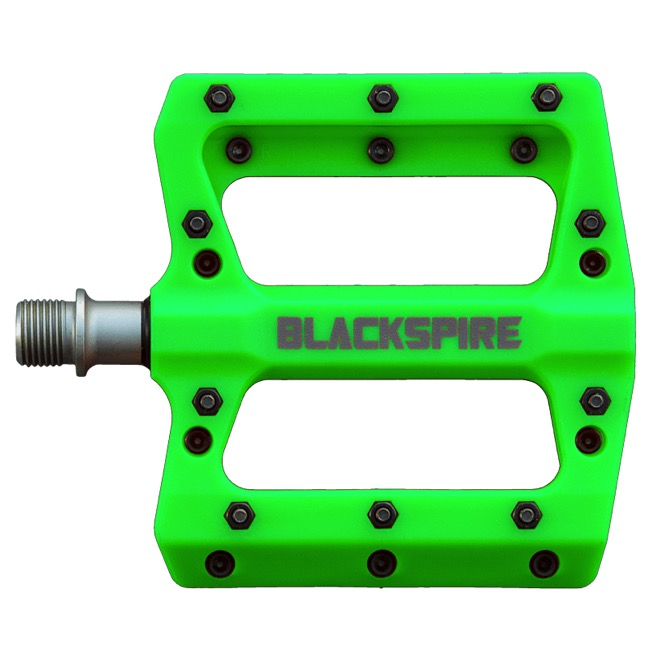 Blackspire Nylotrax Pedals - Pair (Lime Green)