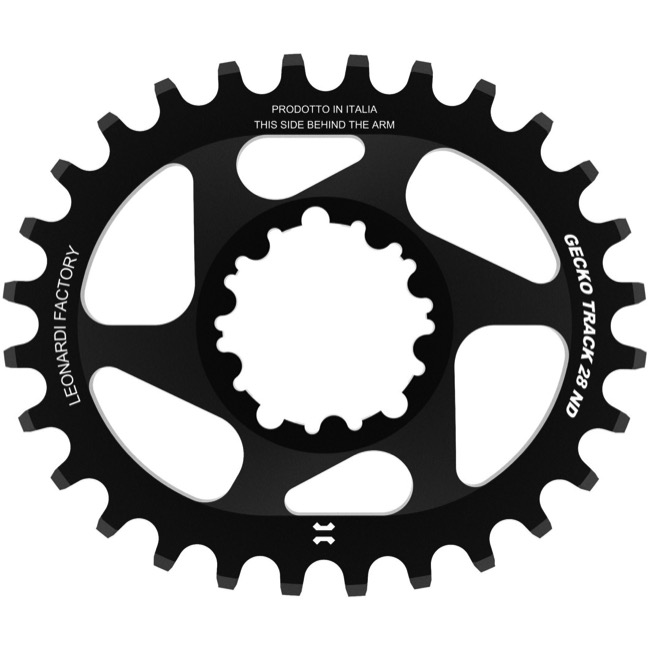 Leonardi Gecko Track Sram BB30 DM Chainring - 28 Tooth Oval (Black)