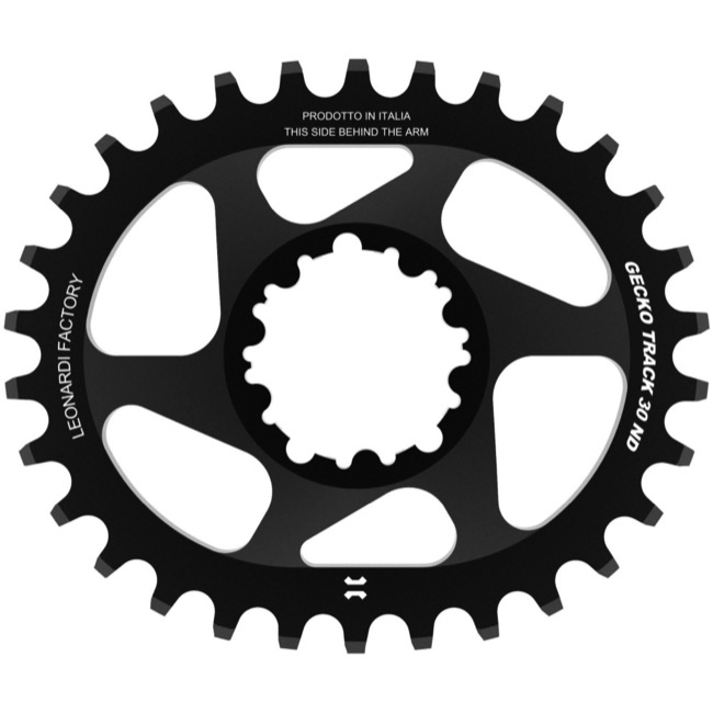 Leonardi Gecko Track Sram BB30 DM Chainring - 30 Tooth Oval (Black)