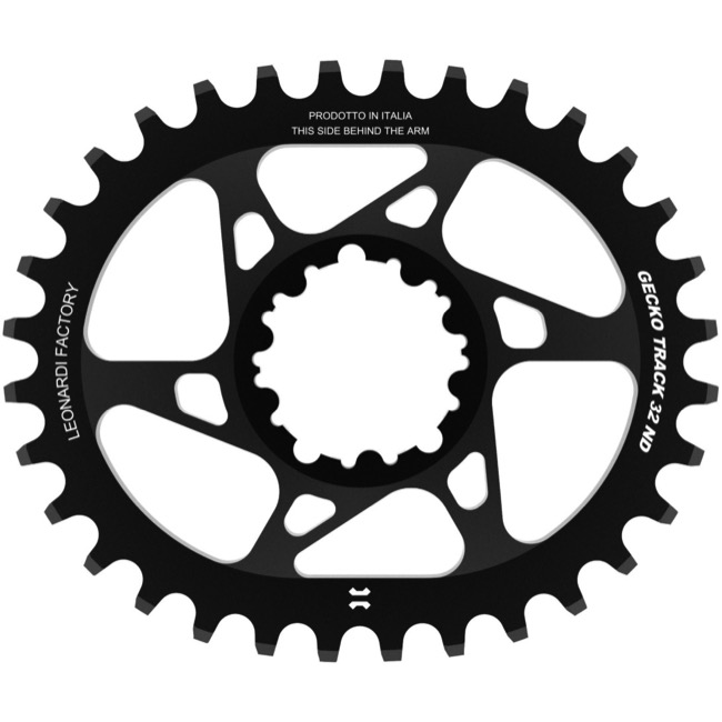 Leonardi Gecko Track Sram BB30 DM Chainring - 32 Tooth Oval (Black)