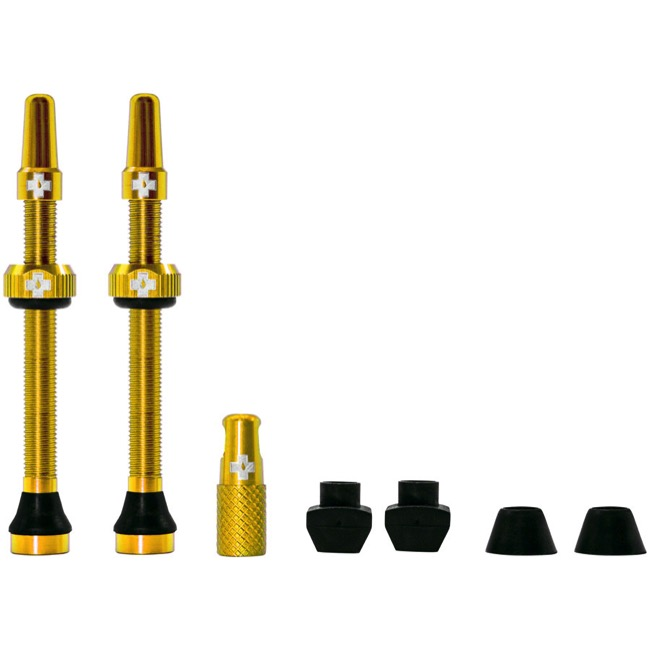 Muc-Off Tubeless Valve Kit - 60mm Valve Kit (Gold)