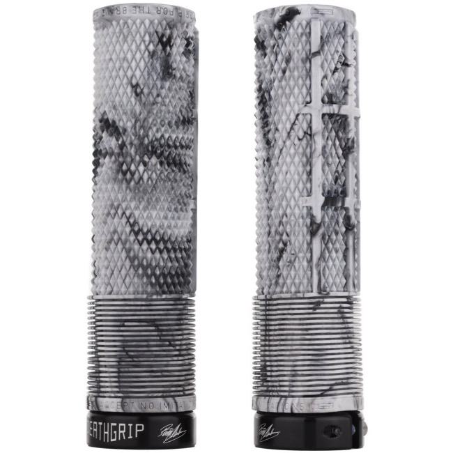 DMR Brendog Flangeless Death Grips - Thick, Pair (Snow Camo/Black Clamps)