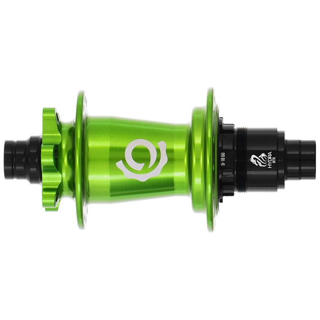 "Industry Nine Hydra XD Boost 6-Bolt Disc Rear Hub - 148mm x 12mm ""Boost"" Thru Axle x 32 Hole, Sram XD (Lime)"
