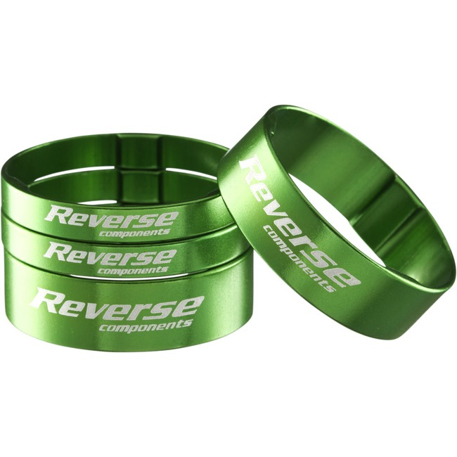 Reverse Components Ultralight Headset Spacer Kit - Kit (Green)