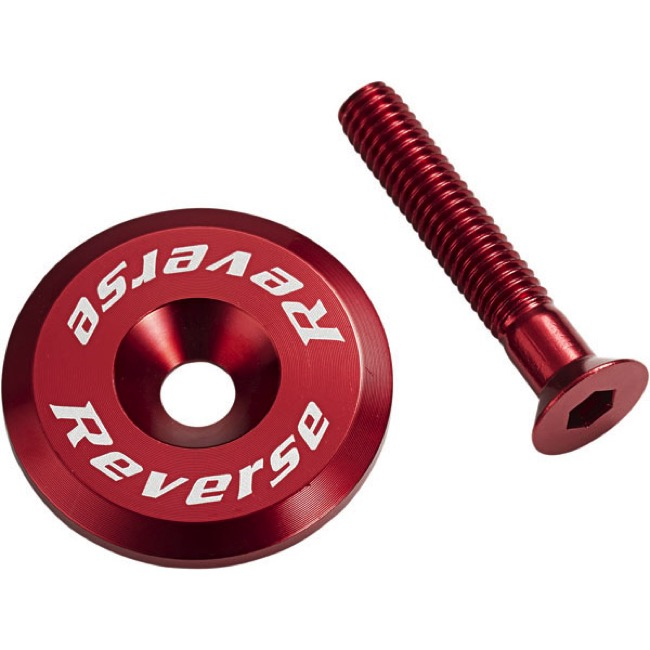 Reverse Components Headset Top Cap/Bolt - Red