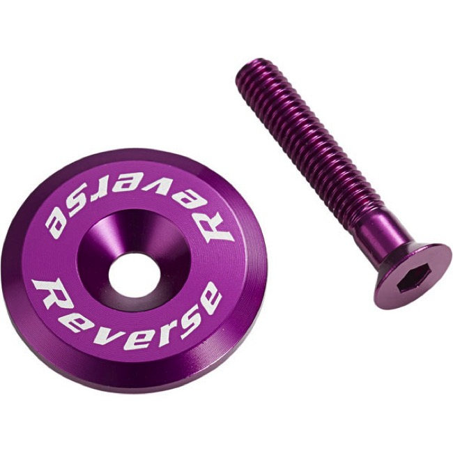 Reverse Components Headset Top Cap/Bolt - Purple