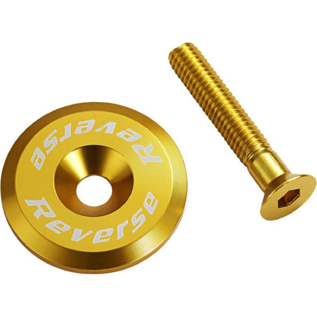 Reverse Components Headset Top Cap/Bolt - Gold