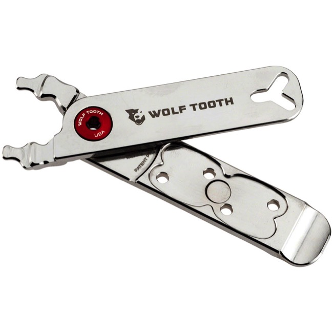 Wolf Tooth Components Master Link Combo Pliers - Nickel (Red Bolt)