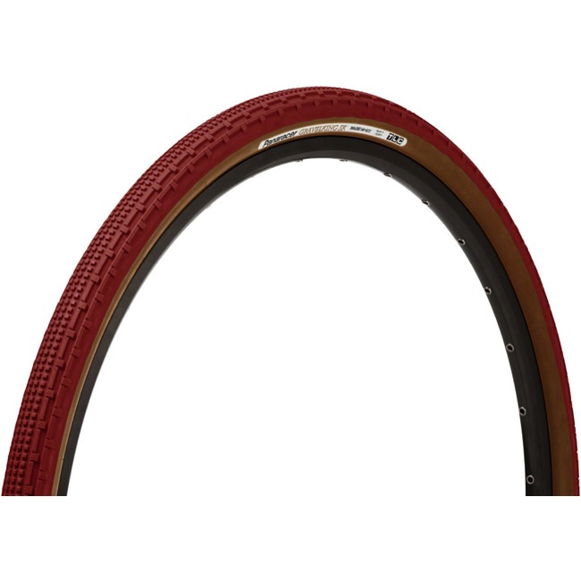 Panaracer GravelKing SK Tubeless Ready Tires - 700 x 38c, Folding Bead (Bordeaux Tread/Brown Sidewall)