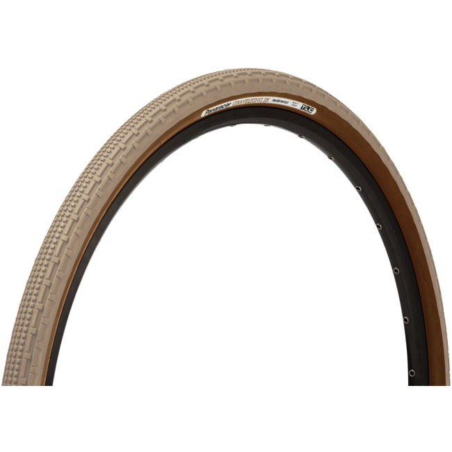 Panaracer GravelKing SK Tubeless Ready Tires - 700 x 43c, Folding Bead (Sandstone Tread/Brown Sidewall)