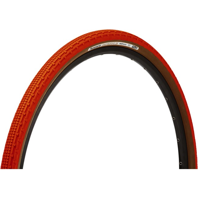 Panaracer GravelKing SK Tubeless Ready Tires - 700 x 43c, Folding Bead (Orange Tread/Brown Sidewall)