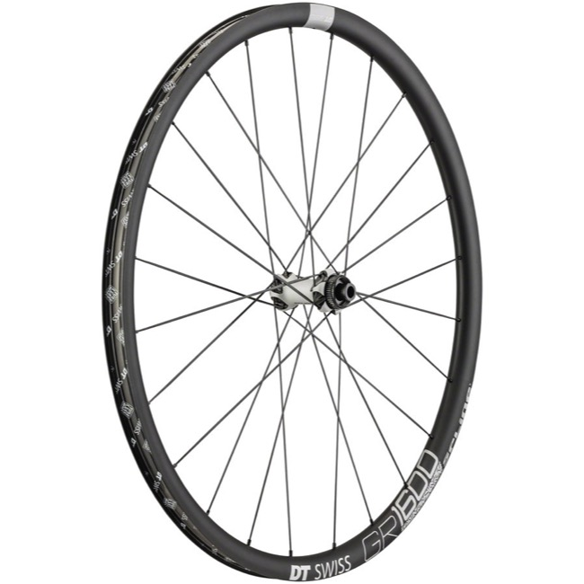 DT Swiss GR 1600 Spline 25 Wheels - 700c Front, 12x100mm Thru Axle (Black)