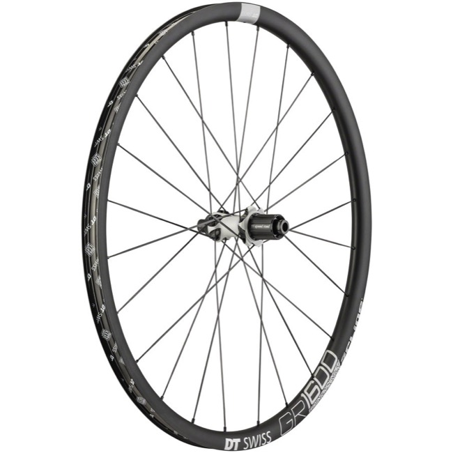 DT Swiss GR 1600 Spline 25 Wheels - 700c Rear, 12x142mm Thru Axle, Shimano HG-11 (Black)