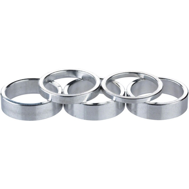 "Problem Solvers Alloy Headset Spacer Kit - 1 1/8"" Kit (Silver)"