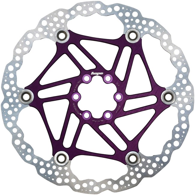 Hope Floating 2 Piece Rotors - 200mm 6-Bolt (Purple)