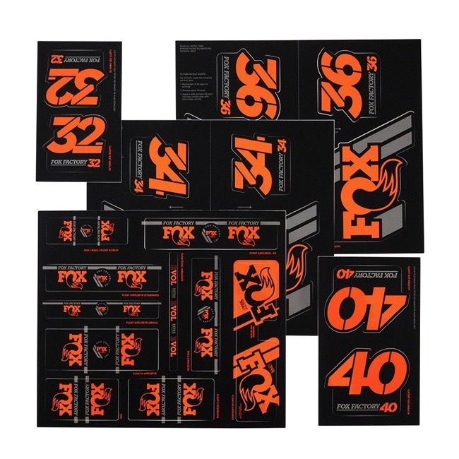 803-01-342 Fox Suspension Heritage Decal Kit for Forks and Shocks Gold