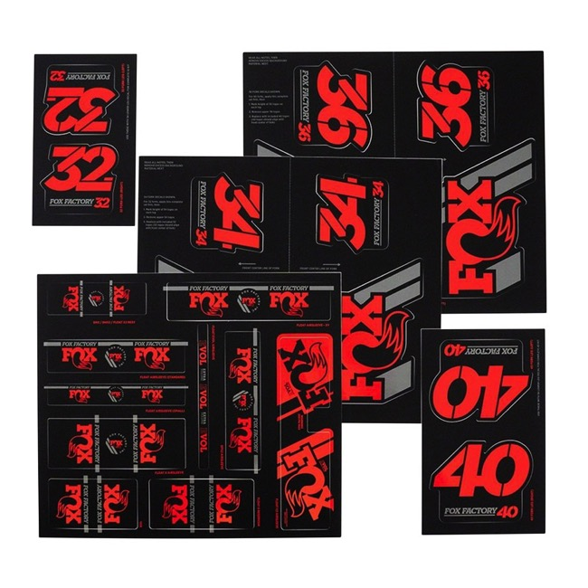 Fox Racing Shox Heritage Decal Sets v.3 - Red