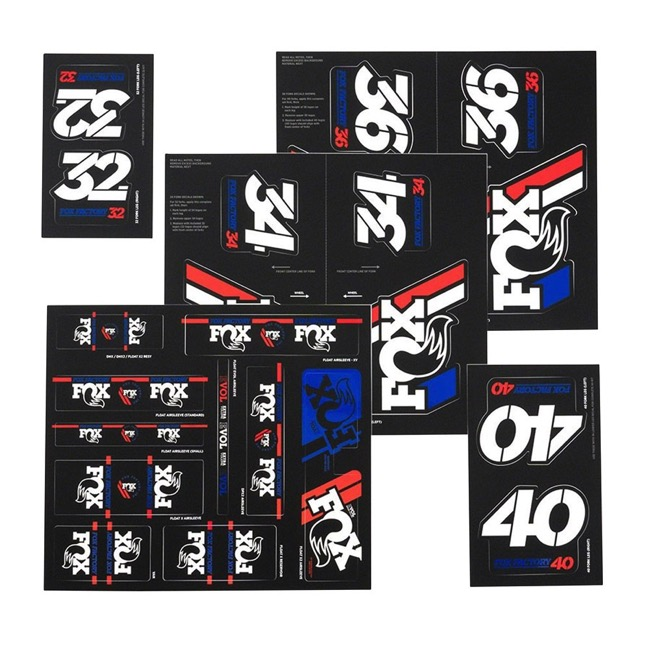 Fox Racing Shox Heritage Decal Sets v.3 - Red/White/Blue