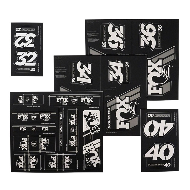 Fox Racing Shox Heritage Decal Sets v.3 - Silver