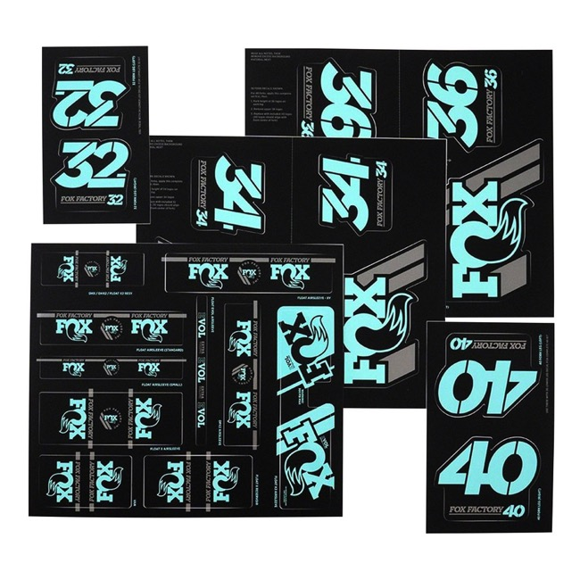 Fox Racing Shox Heritage Decal Sets v.3 - Mint