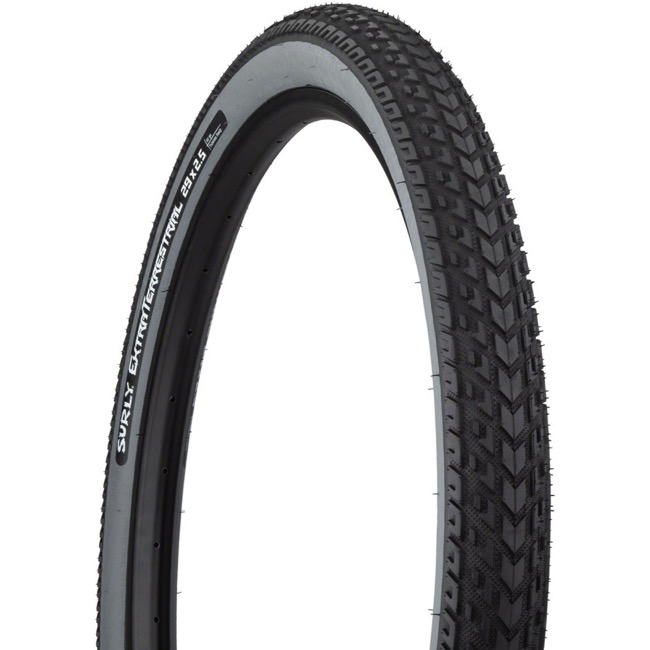 "Surly ExtraTerrestrial Tubeless Ready 29"" Tire - 29 x 2.5"", Folding Bead (Black Tread/Slate Sidewall)"