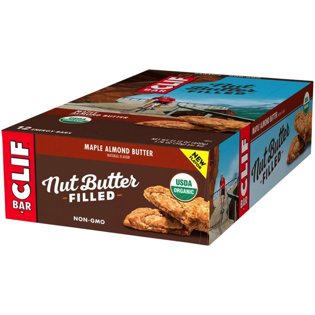 Clif Bar Nut Butter Filled Bars - Maple Almond Butter (Box of 12)