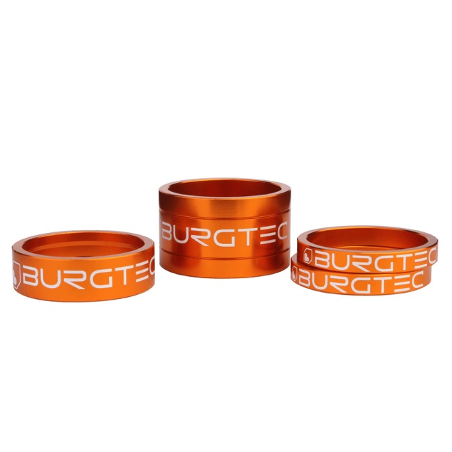 "Burgtec Headset Spacer Kit - 1 1/8"" Kit (Iron Bro Orange)"
