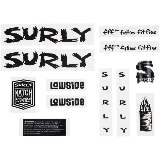 Surly Lowside Decal Set - Black