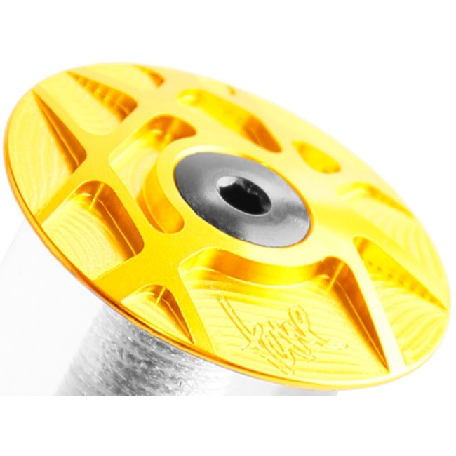 Tune Headset Top Cap - 1 1/8 Inch (Gold)