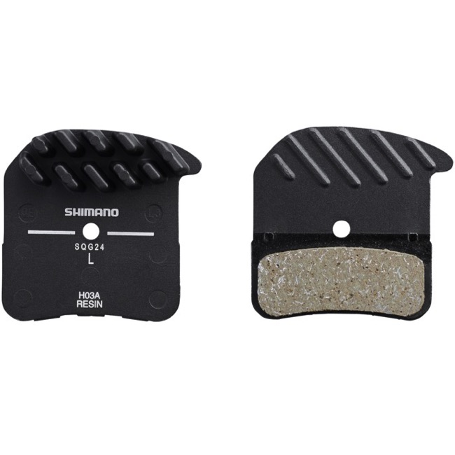 Shimano Disc Pads - H03A Resin with Fin (Saint BR-M820, Deore XT BR-M8020, and Zee BR-M640)