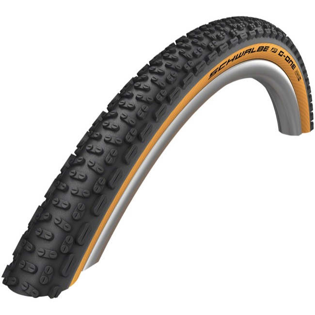 Schwalbe G-One Ultrabite ADDIX SpdGp TLE 700c Tire - 700 x 38c, Folding Bead (Black/Tan Sidewall)
