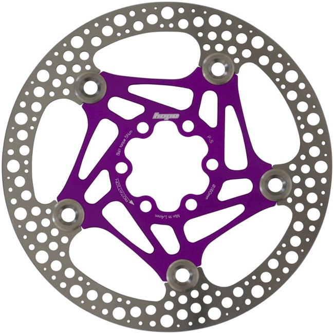 Hope Road Floating 2 Piece Disc Brake Rotors - 160mm, 6 Bolt (Purple)