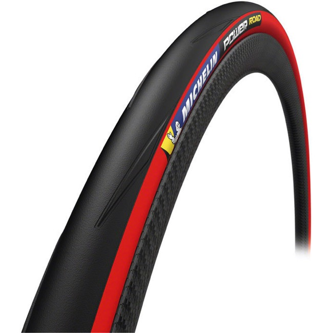Michelin Power Road TS Tire - 700 x 25c, Folding Bead (Black/Red Sidewall)