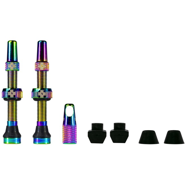Muc-Off Tubeless Valve Kit - 44mm Valve Kit (Iridescent)