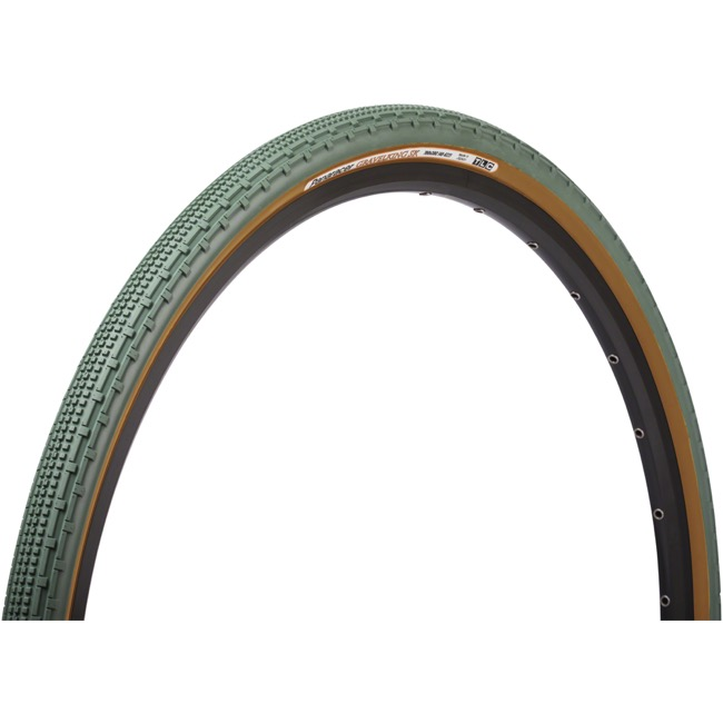 Panaracer GravelKing SK Tubeless Ready Tires - 700 x 43c, Folding Bead (Olive Tread/Brown Sidewall)