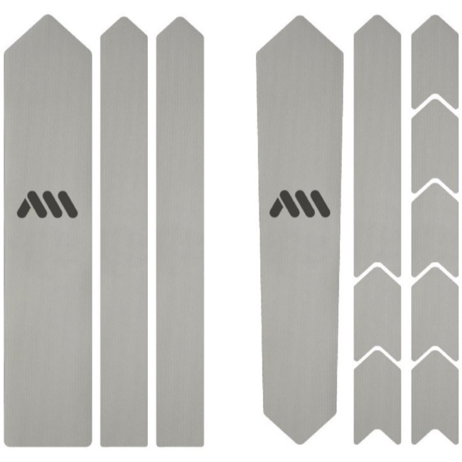 All Mountain Style Basic Honeycomb Frame Guard - Gravel/Road (Clear/Silver)