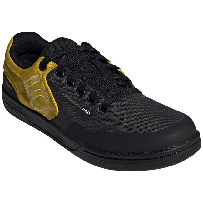 Five Ten Freerider Pro PRIMEBLUE Flat Men's Shoes - DGH Solid Grey/Grey Five/Hazy Yellow - Size 10.5 (DGH Solid Grey/Grey Five/Hazy Yellow)