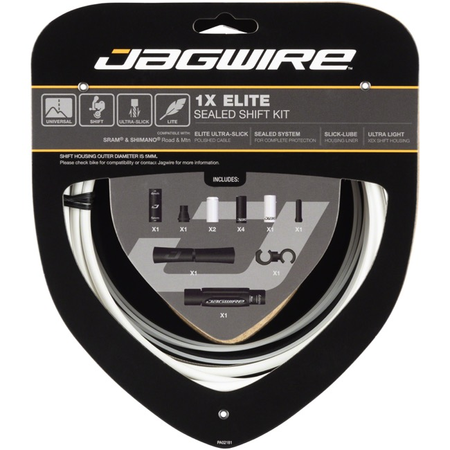 Jagwire Elite Sealed 1x Shift Cable/Housing Set - White