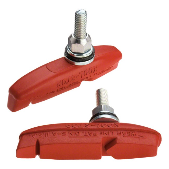 Kool Stop Eagle Claw 2 Brake Pads - Threaded - Salmon