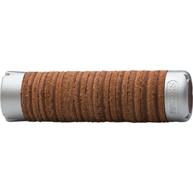 Brooks Plump Leather Ring Grips - Antique Brown (Pair)