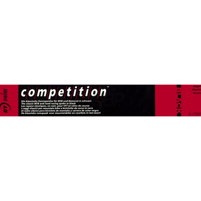 DT Swiss Competition Black Spokes - 2.0 x 185 mm (Black)