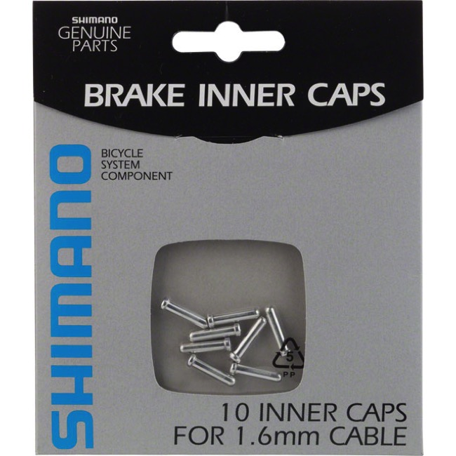 10 Pack Cable Tips - Shimano brake 1.6mm (Silver) 10/Bag