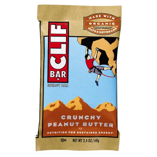 Clif Bar Original Bars - Crunchy Peanut Butter (Box of 12)