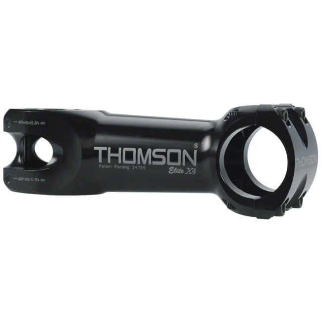 Thomson Elite X4 Mountain Stems - 80mm x 0 Deg x 31.8 Clamp (Black)