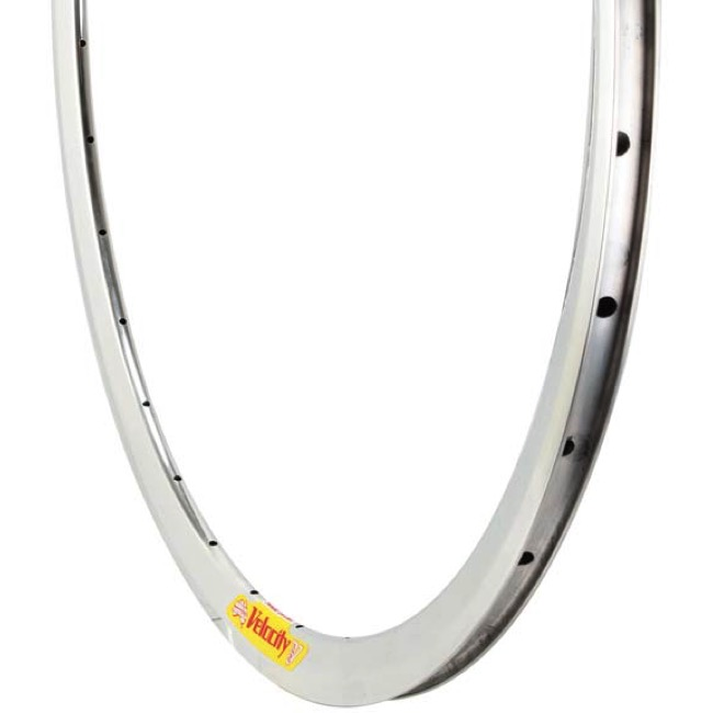 Velocity Deep V Non-Machined Rim - 700c x 32h (Polished Silver)